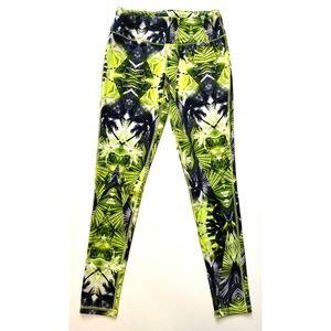 Material Girl Tropical Geometric Neon Leggings S